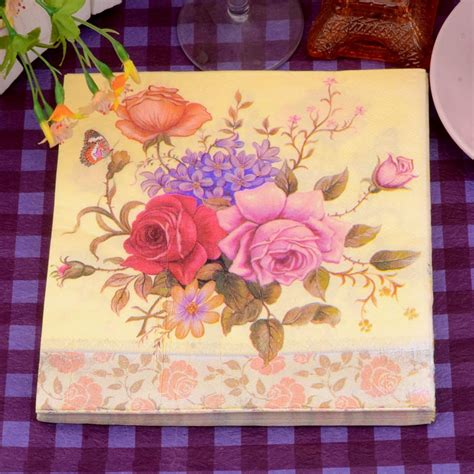 Napkins Tissue Decoupage Eropah 9 new paper napkins tissue floral butterfly patterned handerchief decoupage wedding birthday