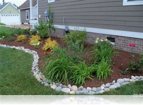 simple rock garden simple rock garden ideas with white river border