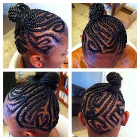 freestyle twists with bun 136 best kids and teens braids images on pinterest