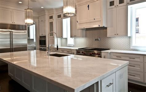 Ideas For Kitchen Countertops And Backsplashes kitchen backsplashes dazzle with their herringbone designs