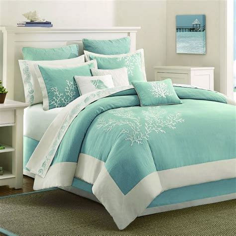 plain teal comforter coastal bedding bedding and bedding sets on pinterest