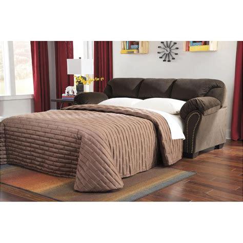 kinlock chocolate sofa and loveseat 3340136 furniture kinlock chocolate sofa sleeper