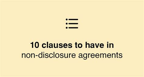 10 key clauses to have in non disclosure agreements everynda