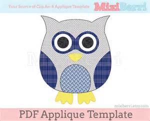 applique templates free blue owl applique template pdf applique pattern instant