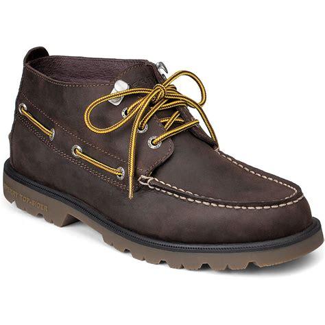 sperry chukka boot sperry mens authentic original waterproof lug chukka boot