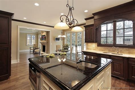 Dark Espresso Kitchen Cabinets by Pictures Of Kitchens Traditional Dark Espresso Kitchen