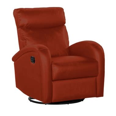 Push Button Recliner by Dezmo Push Button Swivel Glider Recliner In Leather