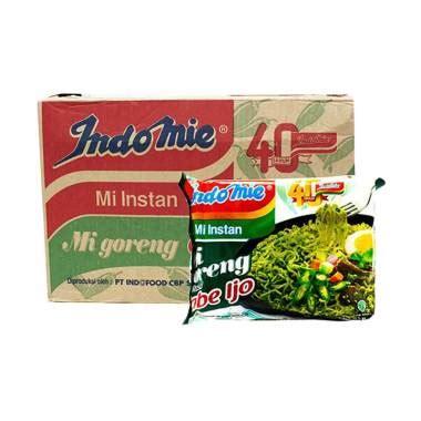Indomie Goreng Cabe Ijo Isi 40 Pcs jual indomie goreng cabe ijo makanan instan 1 dus 40 pcs