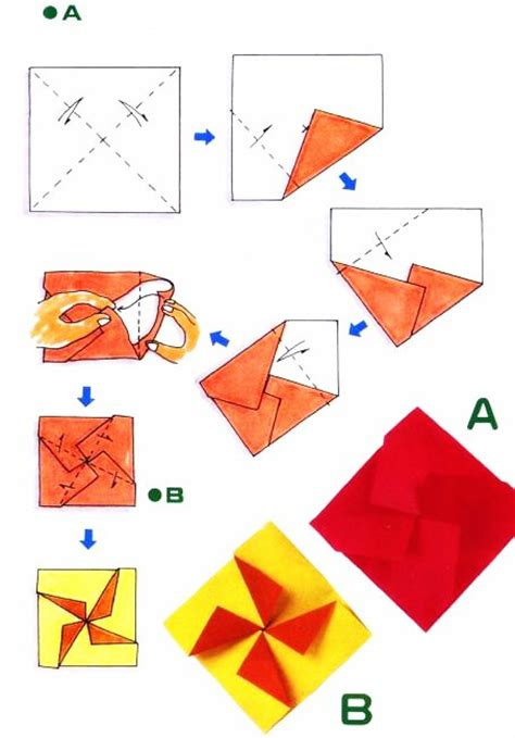 Origami Envelope Pattern - diagramme d origami d enveloppe croix cartes