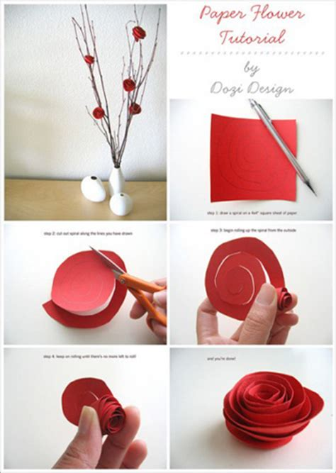How To Make Crafts Out Of Paper - paper flower crafts elec intro website