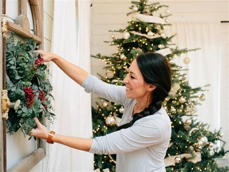 at home joanna gaines joanna gaines farmhouse christmas decor is cheery and