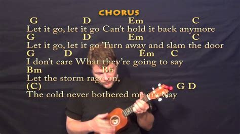 ukulele tutorial let it go let it go frozen soprano ukulele cover lesson with
