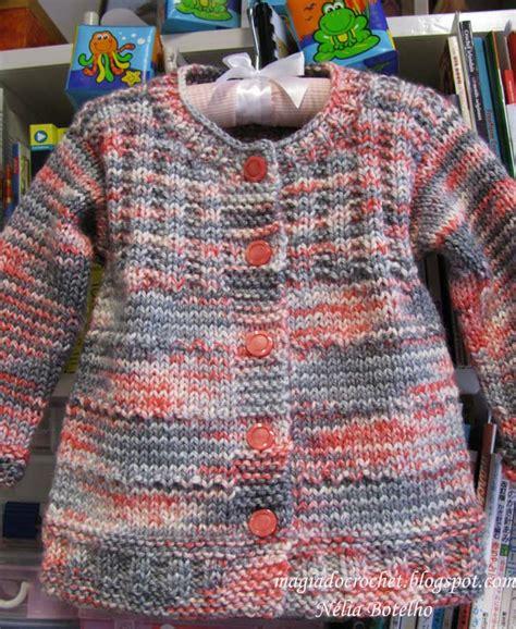 magiadocrochet blogspot magia do crochet casaco em tricot para menina