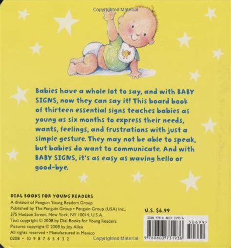 Baby Signs A Baby Speaking With Sign Language Board Book baby signs a baby sized introduction to speaking with