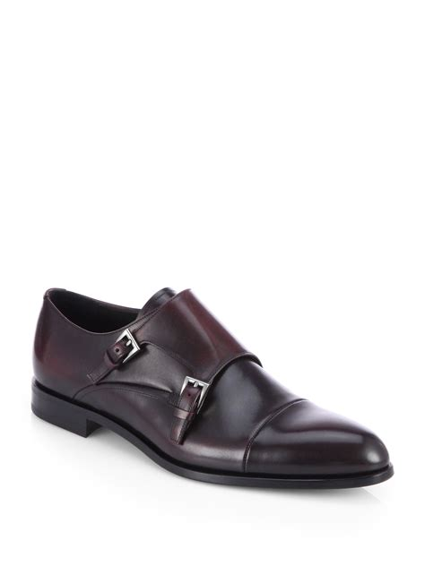cap toe loafers prada monk cap toe loafers in black for purple