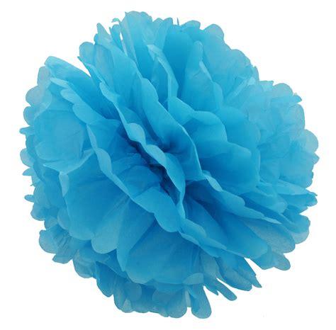 Pom Poms With Tissue Paper - 15 inch turquoise tissue pom pom pack of 4