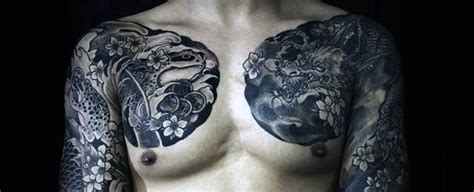 japanese chest tattoos for men 50 collar bone tattoos for clavicle design ideas