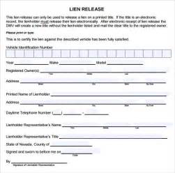 lien template sle lien release form 8 free documents in pdf