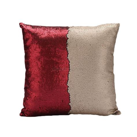 sequin cushion cover mermaid glitter sofa pillow