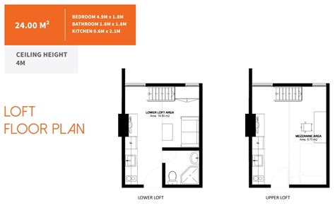 floor plan with loft cebu properties my home in cebu
