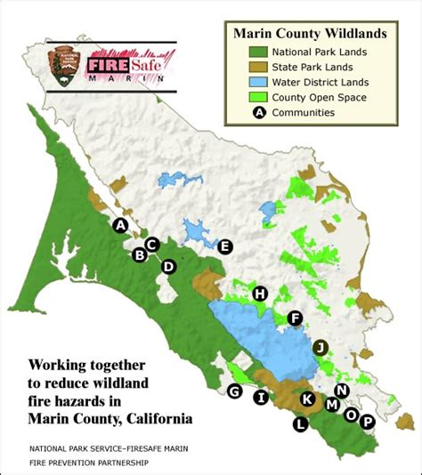 map of sausalito area community wildfire protection projects golden gate