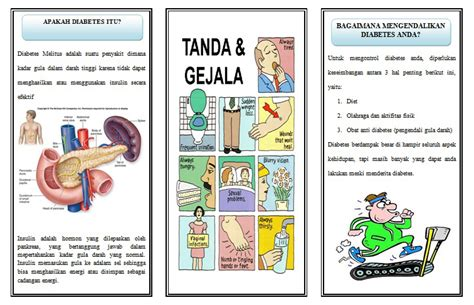 format askep diabetes militus makalah kesehatan keperawatan umum leaflet diabetes melitus