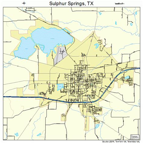 map of springs texas sulphur springs texas map 4870904