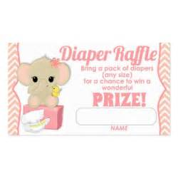 pink chevron elephant diaper raffle tickets 100pk double