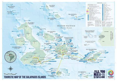 galapagos map galapagos islands ecuador travel