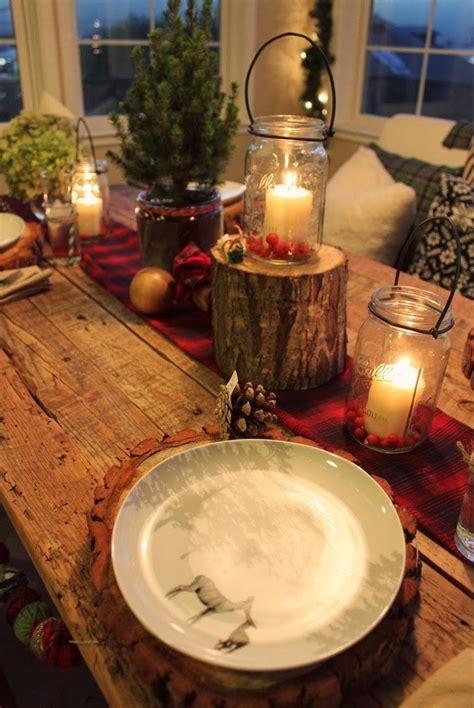 cool rustic christmas table settings interior god