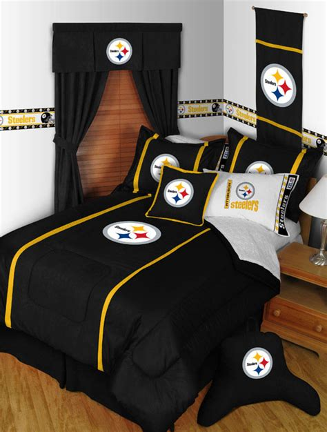 steelers bedroom set pittsburgh steelers mvp bed skirt