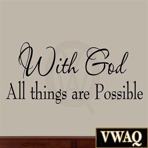 with god all things are possible bible wall decal
