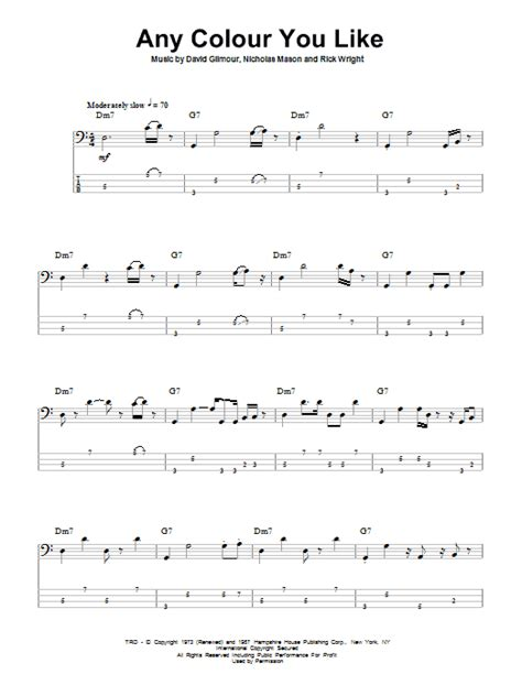 colour chords any colour you like sheet music direct