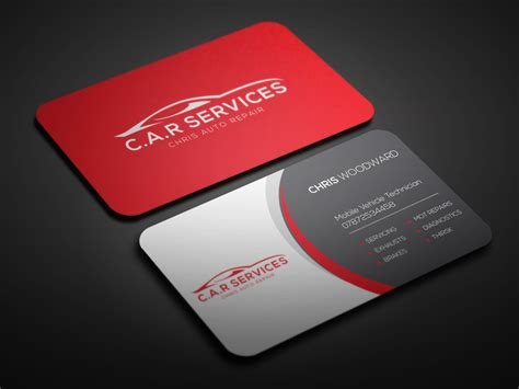 card template mechanic entry 34 by oviraj35 for design car mechanic business