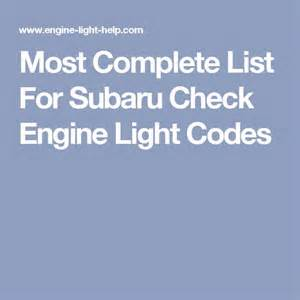 2000 Subaru Outback Check Engine Light 148 Best Images About Subaru Forester 2000 On