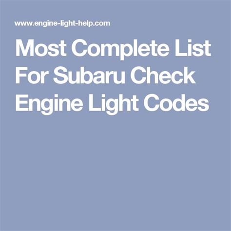 check engine light codes list 148 best images about subaru forester 2000 on