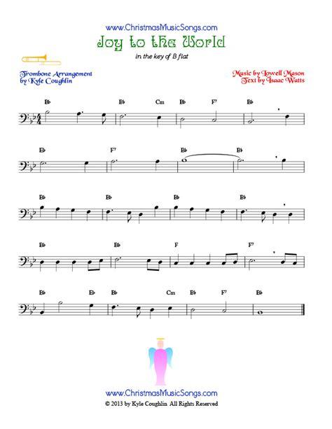 song trombones joy to the world for trombone free sheet music