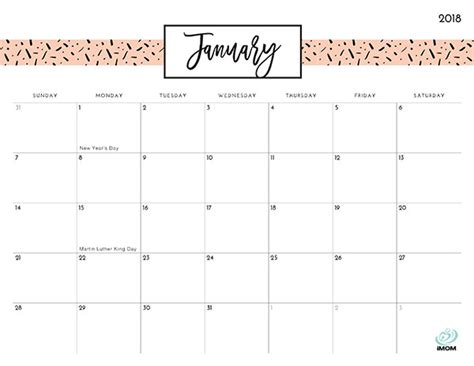 printable calendars pretty pretty patterns 2018 printable calendar imom