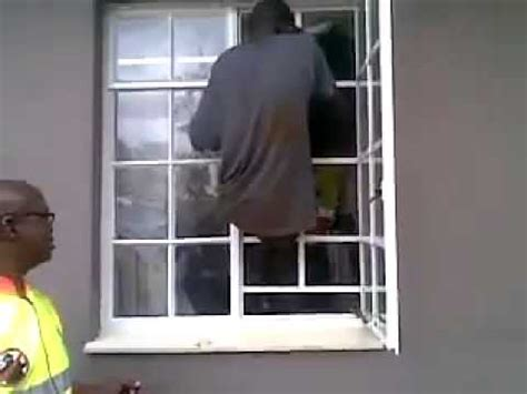 Safety Door Designs by Burglar Climbs Through Burglar Bars With Ease Youtube