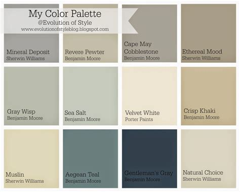 paint color palette whole house color palette evolution of style