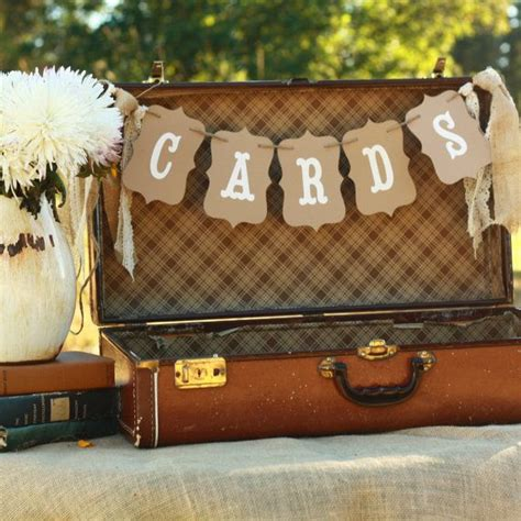 Rustic Wedding Banner by Cards Wedding Banner Sign Suitcase Rustic Burlap