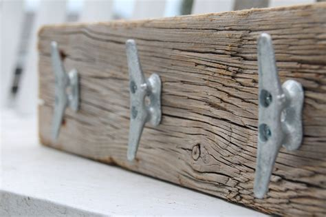 Nautical Coat Rack by Nautical Coat Rack With Boat Cleats Made From Reclaimed