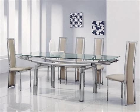 glass kitchen tables and chairs 20 ideas of extendable glass dining tables and 6 chairs