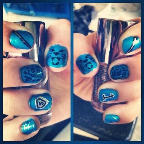 Carolina Panthers Nail Designs