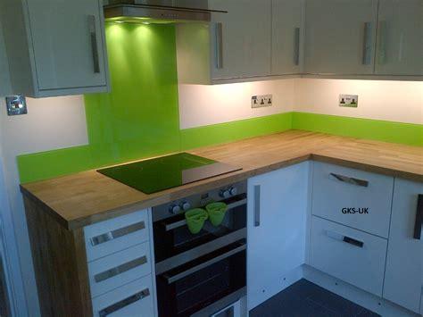lime green kitchen splashback glasskitchensplashbacks
