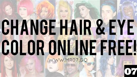 change hair color online photo editor how to change hair and eye color online for free no
