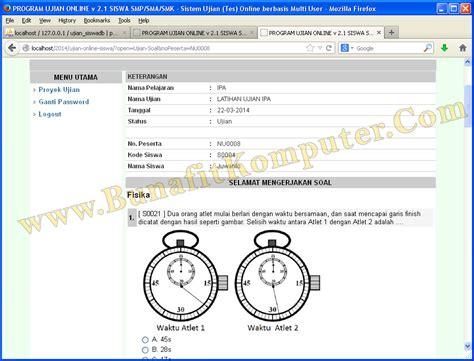 membuat web ujian online program aplikasi ujian tes online siswa smp sma sistem