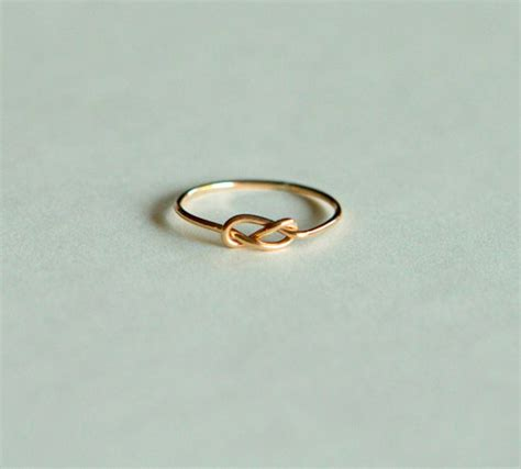 infinity ring 14kt gold rings infinity knot handcrafted