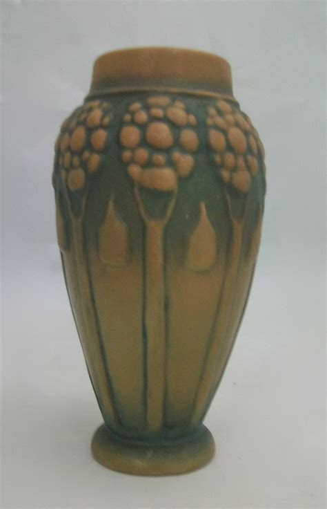 Austrian Vases Antique by Austrian Crown Oak Ware Vase For Sale Antiques