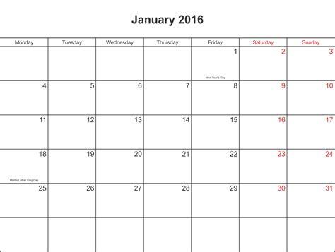 Calendar January 2016 January 2016 Calendar Printable With Holidays Pdf And Jpg